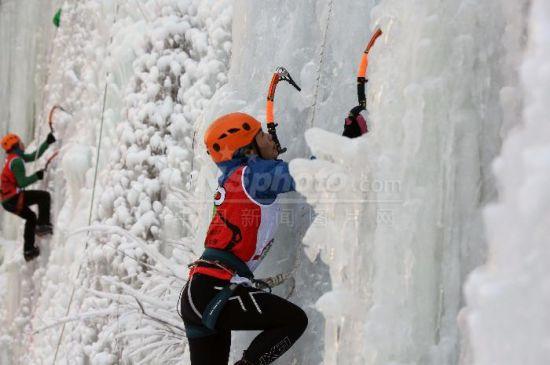 2018年房山金水湖全国攀冰锦标赛举行