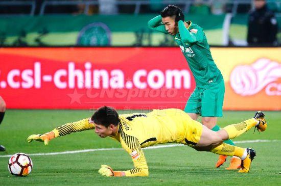 中超联赛:北京中赫国安1比1平天津泰达