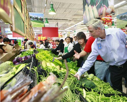 蔬菜产品的品质与陈列,鼓励员工为顾客提供品质最好的生鲜产