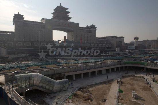 北京西站北下沉广场即将试运行